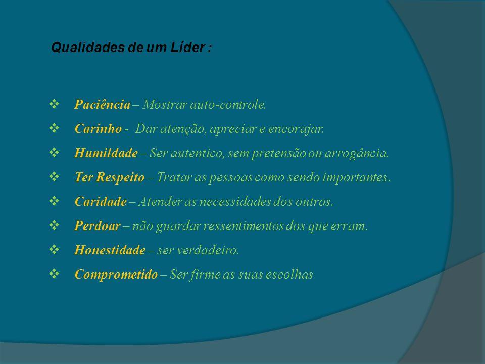 Qualidades de um Líder :