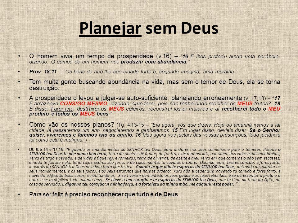 Planejar sem Deus