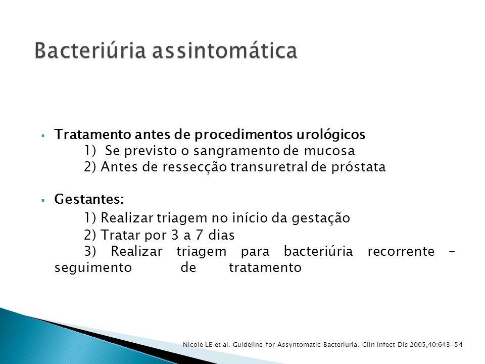 Bacteriúria assintomática