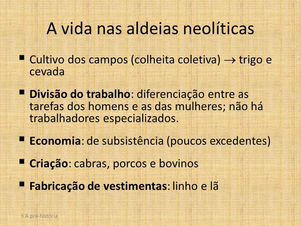 A vida nas aldeias neolíticas