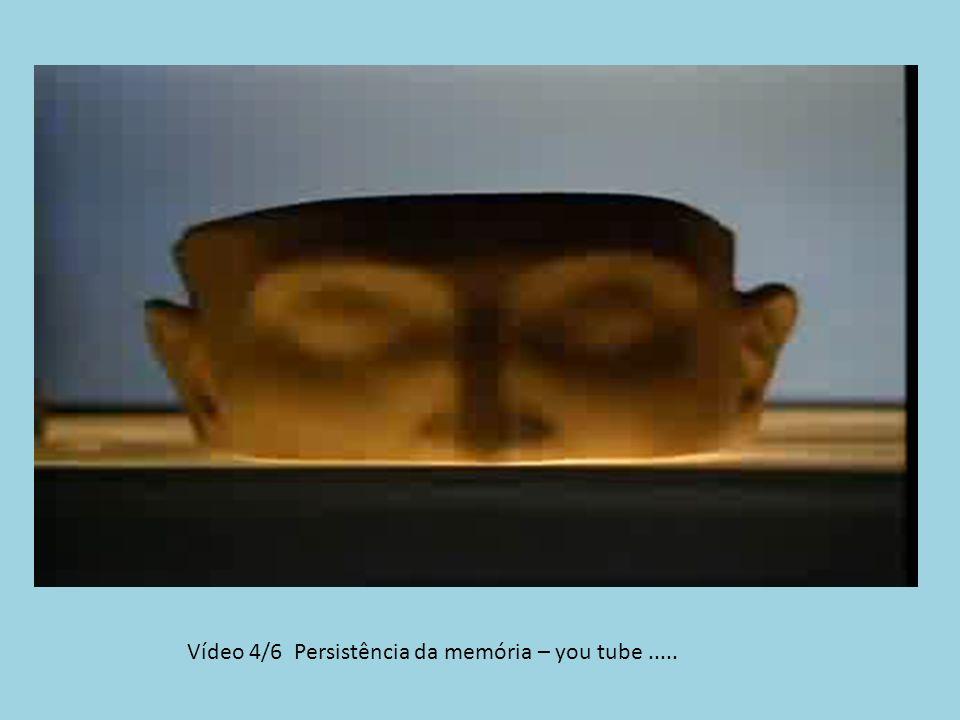 Vídeo 4/6 Persistência da memória – you tube .....