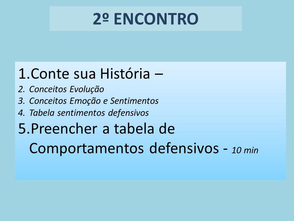 2º ENCONTRO Conte sua História –
