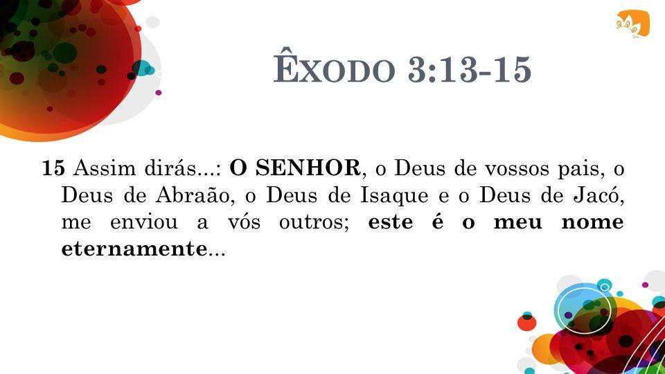Êxodo 3:13-15