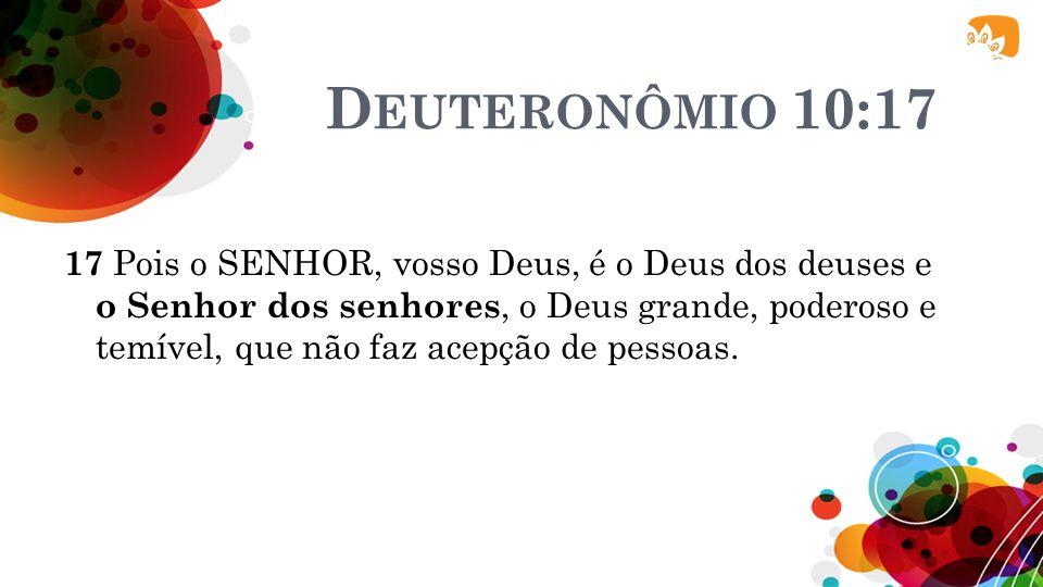 Deuteronômio 10:17