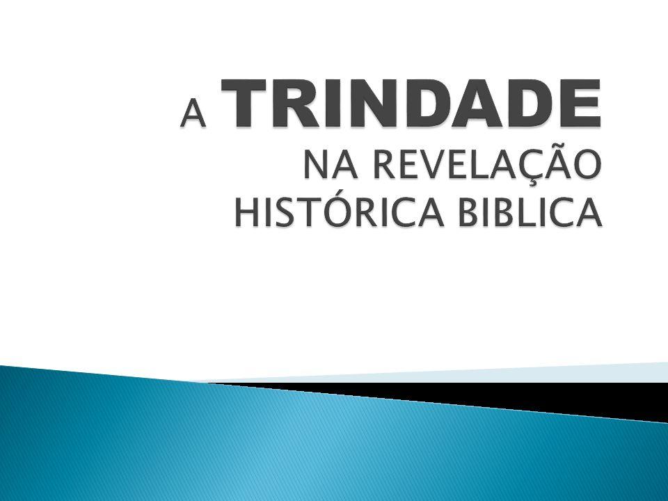 A TRINDADE NA REVELAÇÃO HISTÓRICA BIBLICA