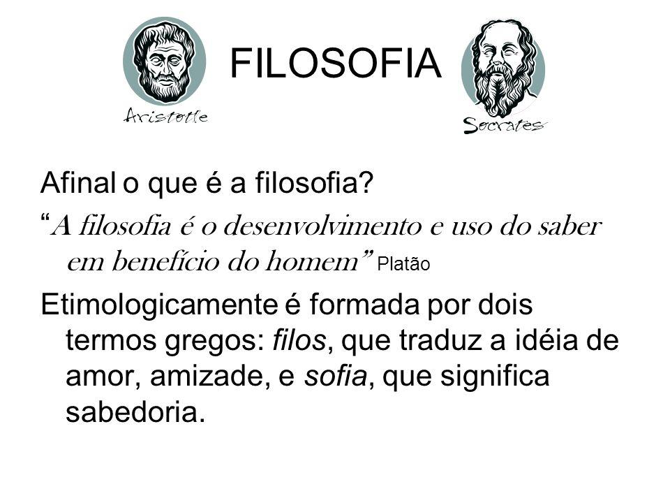 FILOSOFIA Afinal o que é a filosofia