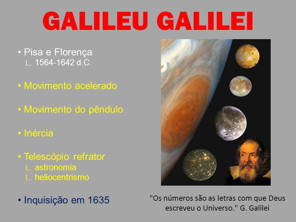 GALILEU GALILEI • Pisa e Florença • Movimento acelerado