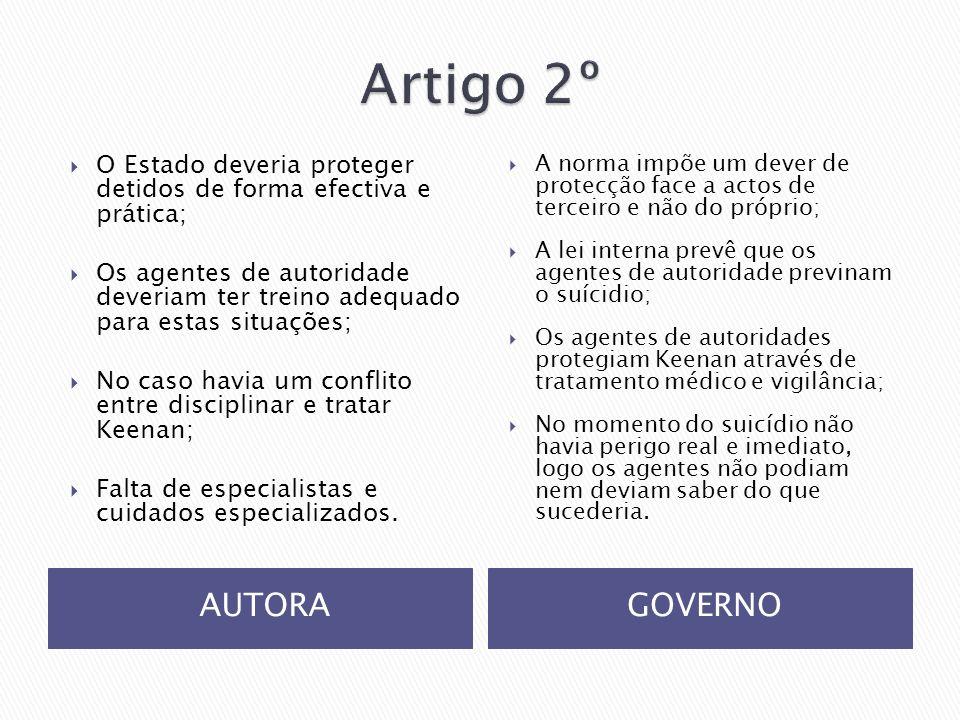 Artigo 2º AUTORA GOVERNO