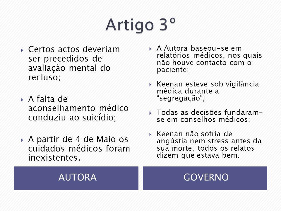 Artigo 3º AUTORA GOVERNO
