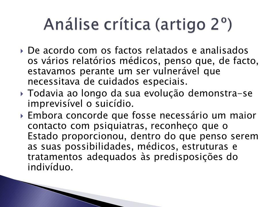 Análise crítica (artigo 2º)