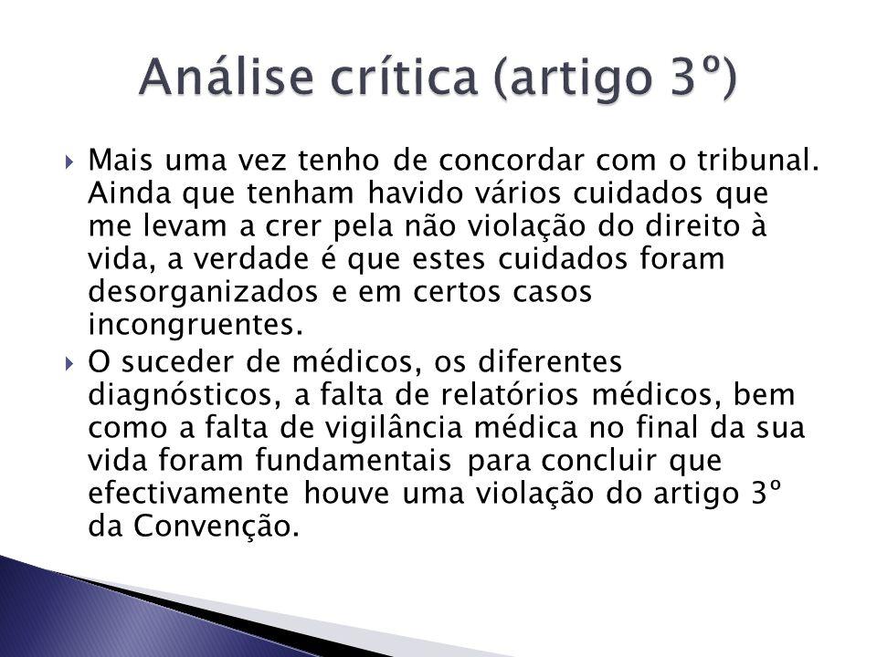 Análise crítica (artigo 3º)