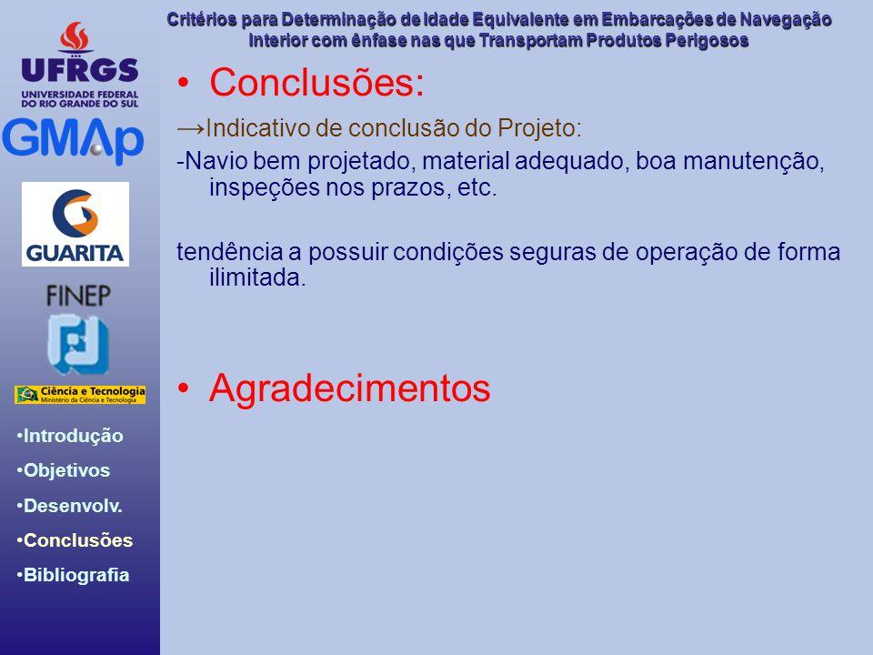 Conclusões: Agradecimentos →Indicativo de conclusão do Projeto:
