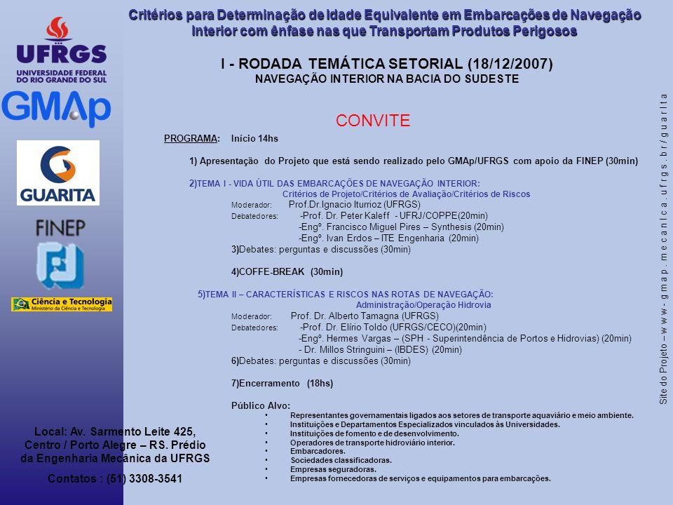 CONVITE I - RODADA TEMÁTICA SETORIAL (18/12/2007)