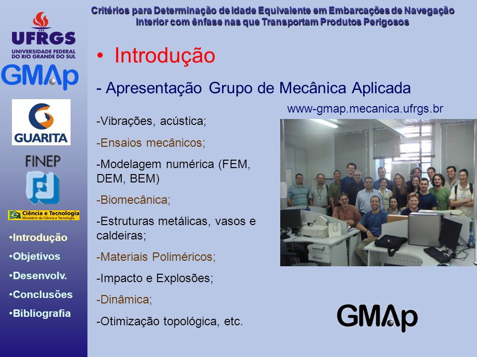 Introdução - Apresentação Grupo de Mecânica Aplicada