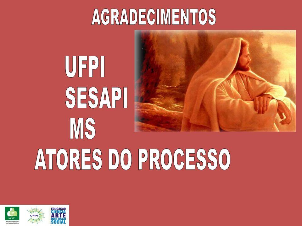 AGRADECIMENTOS UFPI SESAPI MS ATORES DO PROCESSO