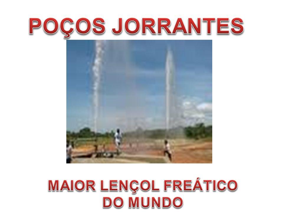 POÇOS JORRANTES MAIOR LENÇOL FREÁTICO DO MUNDO