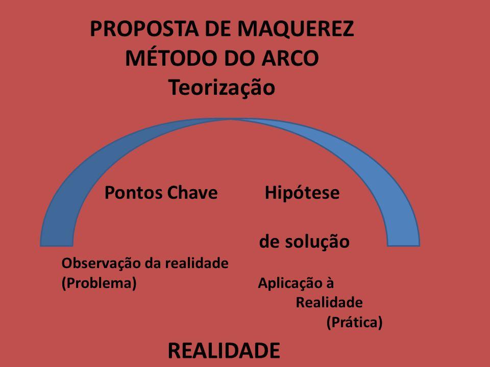 PROPOSTA DE MAQUEREZ MÉTODO DO ARCO Teorização REALIDADE