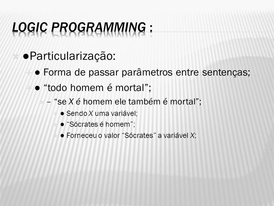 Logic Programming : ●Particularização: