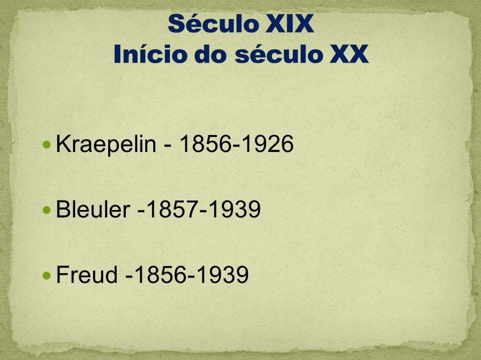 Século XIX Início do século XX