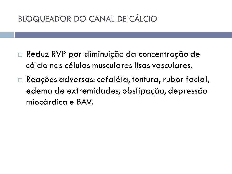 BLOQUEADOR DO CANAL DE CÁLCIO