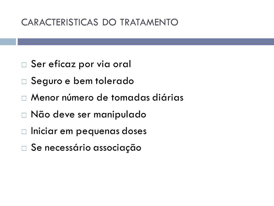 CARACTERISTICAS DO TRATAMENTO