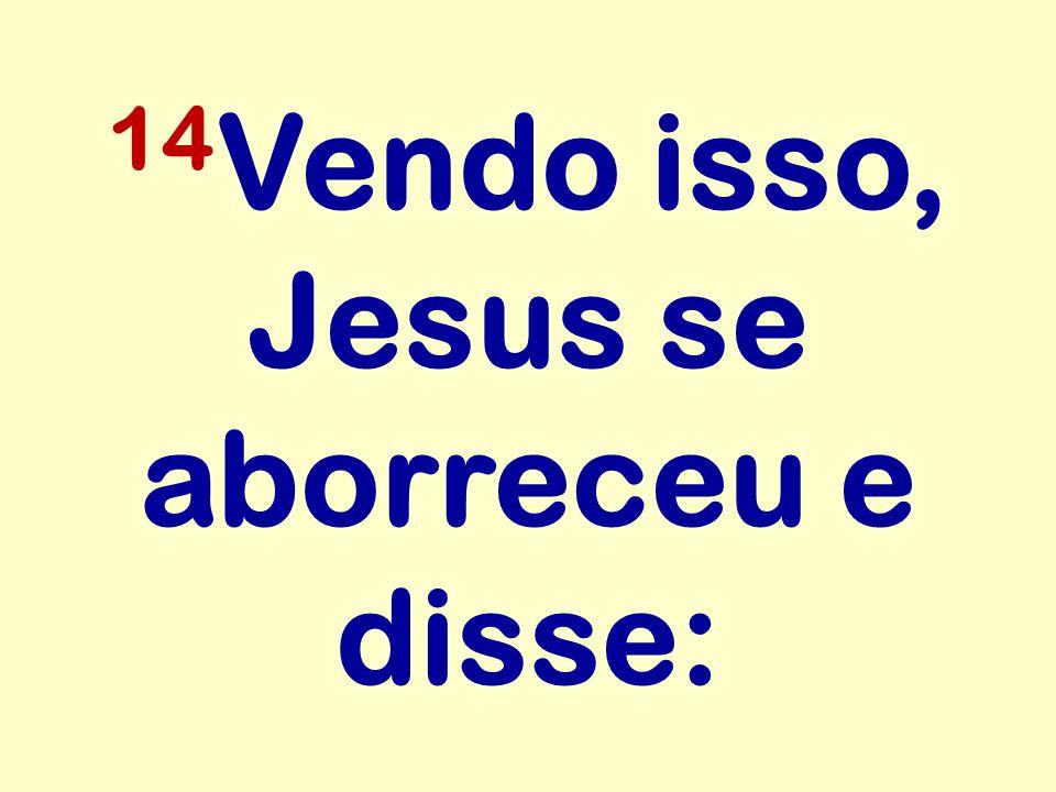14Vendo isso, Jesus se aborreceu e disse: