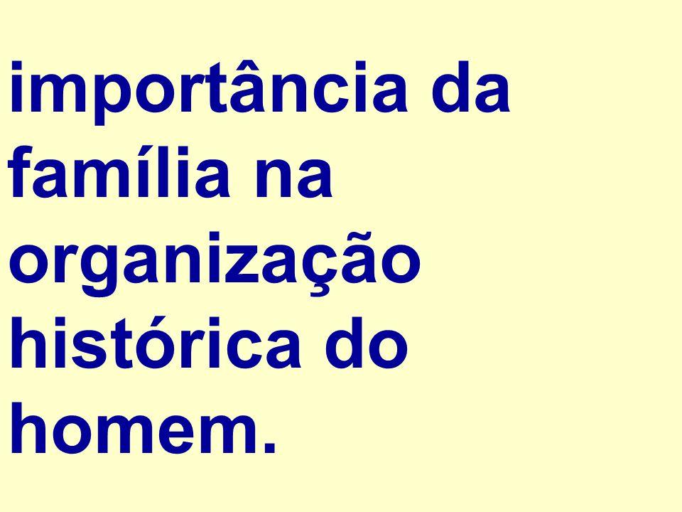 importância da família na organização histórica do homem.