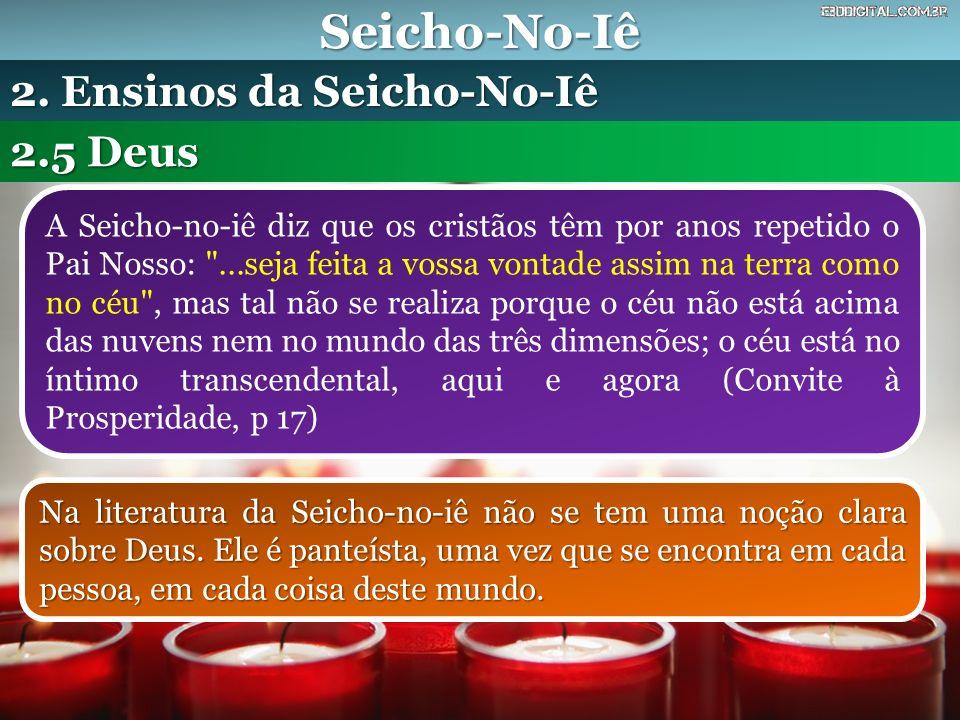 Seicho-No-Iê 2. Ensinos da Seicho-No-Iê 2.5 Deus