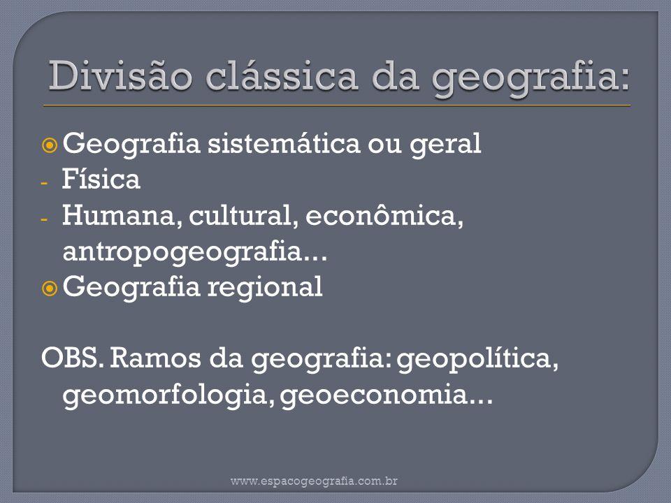 Divisão clássica da geografia: