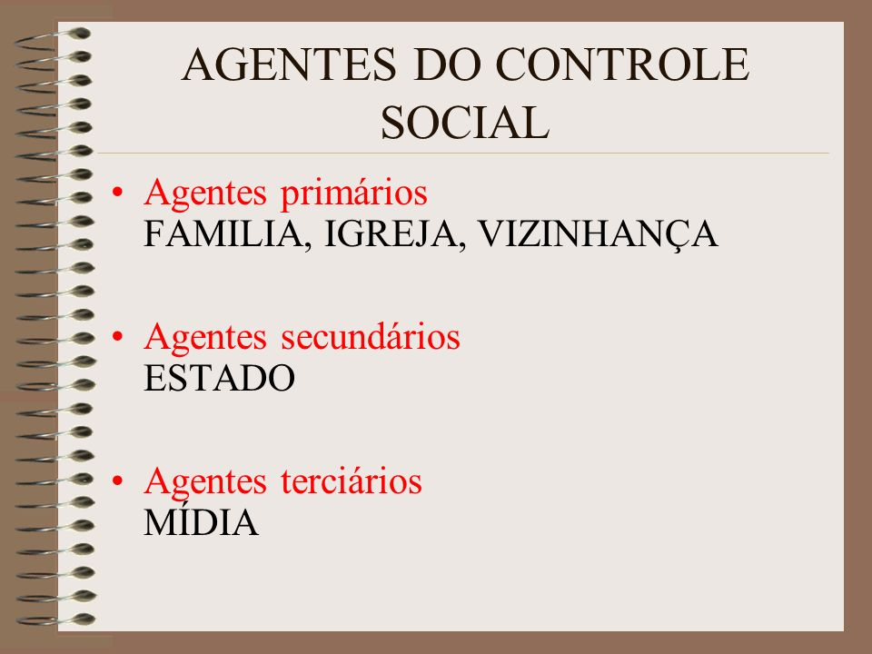 AGENTES DO CONTROLE SOCIAL