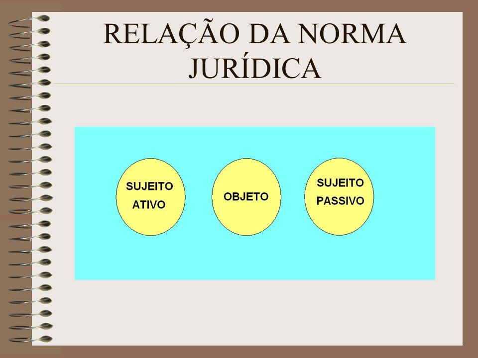 RELAÇÃO DA NORMA JURÍDICA