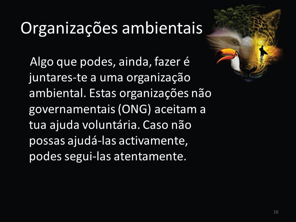 Organizações ambientais