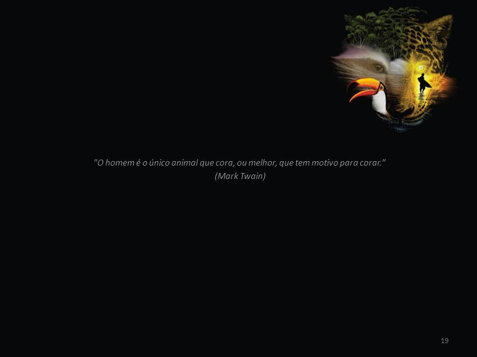 O homem é o único animal que cora, ou melhor, que tem motivo para corar.