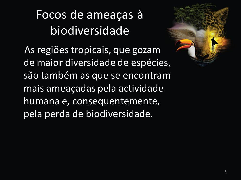 Focos de ameaças à biodiversidade