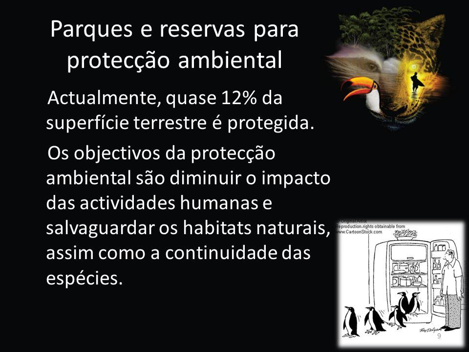 Parques e reservas para protecção ambiental