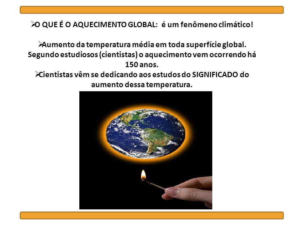 O QUE É O AQUECIMENTO GLOBAL: é um fenômeno climático!