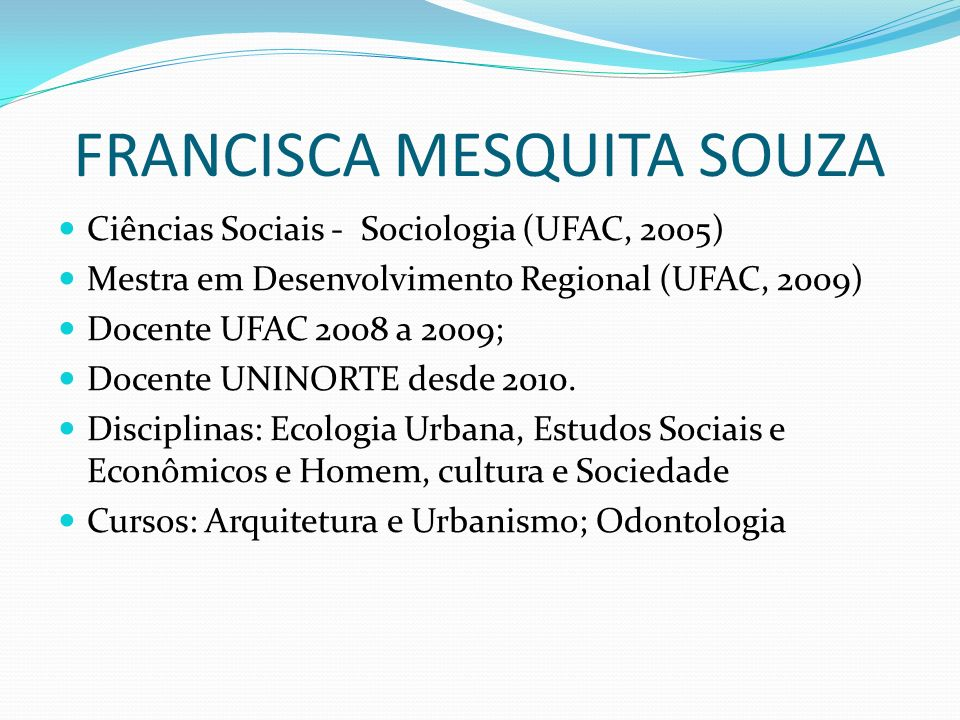 FRANCISCA MESQUITA SOUZA