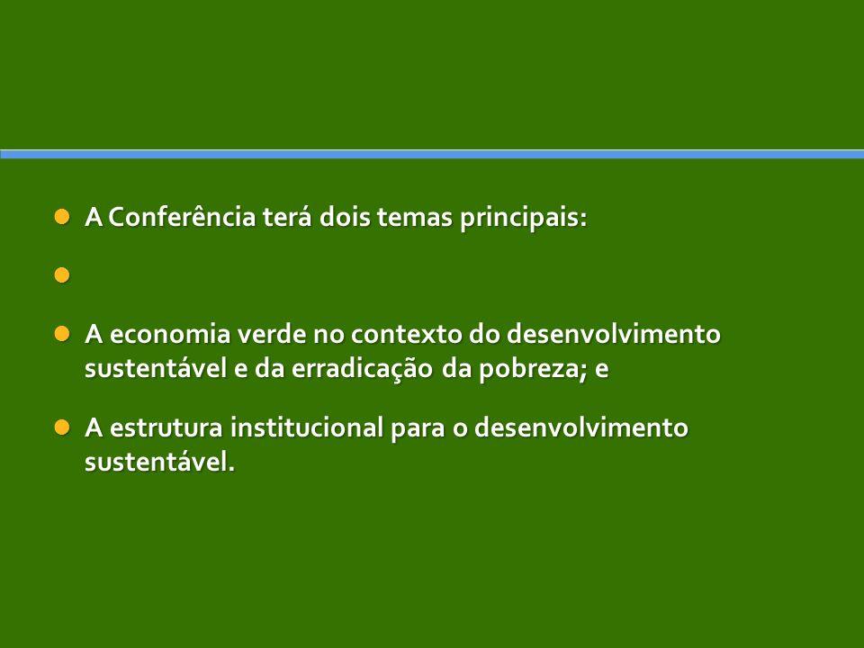 A Conferência terá dois temas principais: