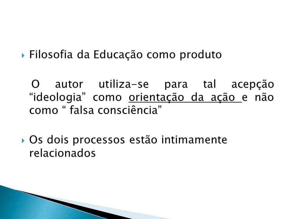 Filosofia da Educação como produto