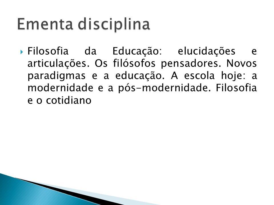 Ementa disciplina