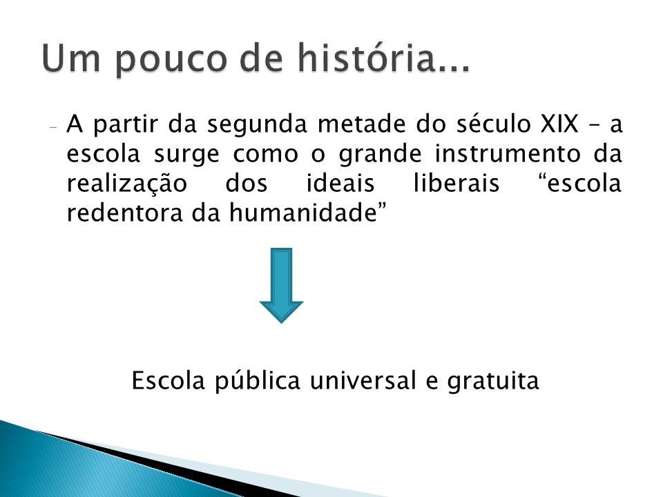 Escola pública universal e gratuita
