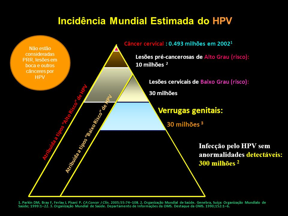 Incidência Mundial Estimada do HPV