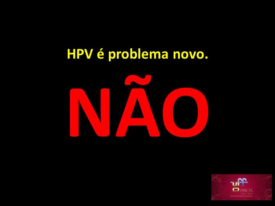 HPV é problema novo. NÃO