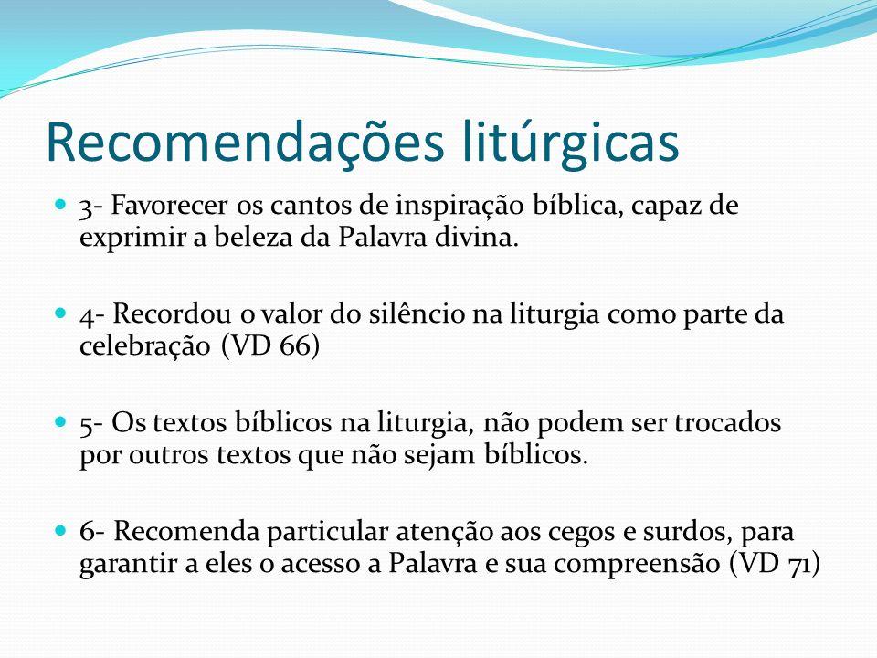 Recomendações litúrgicas