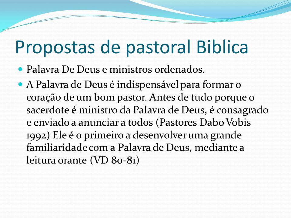 Propostas de pastoral Biblica