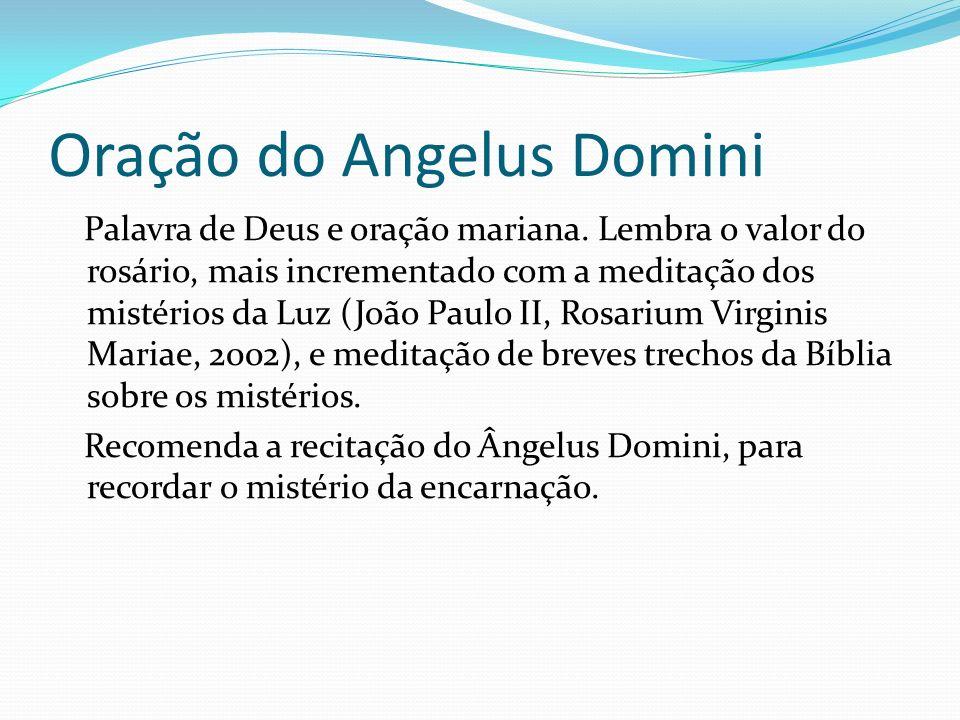 Oração do Angelus Domini