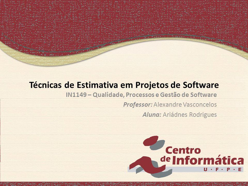 Técnicas de Estimativa em Projetos de Software