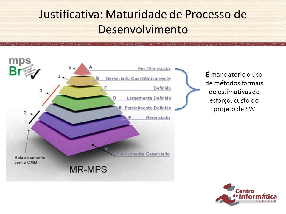 Justificativa: Maturidade de Processo de Desenvolvimento