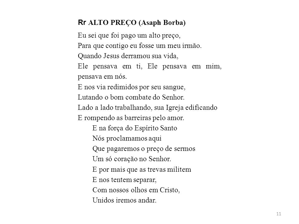 Rr ALTO PREÇO (Asaph Borba)