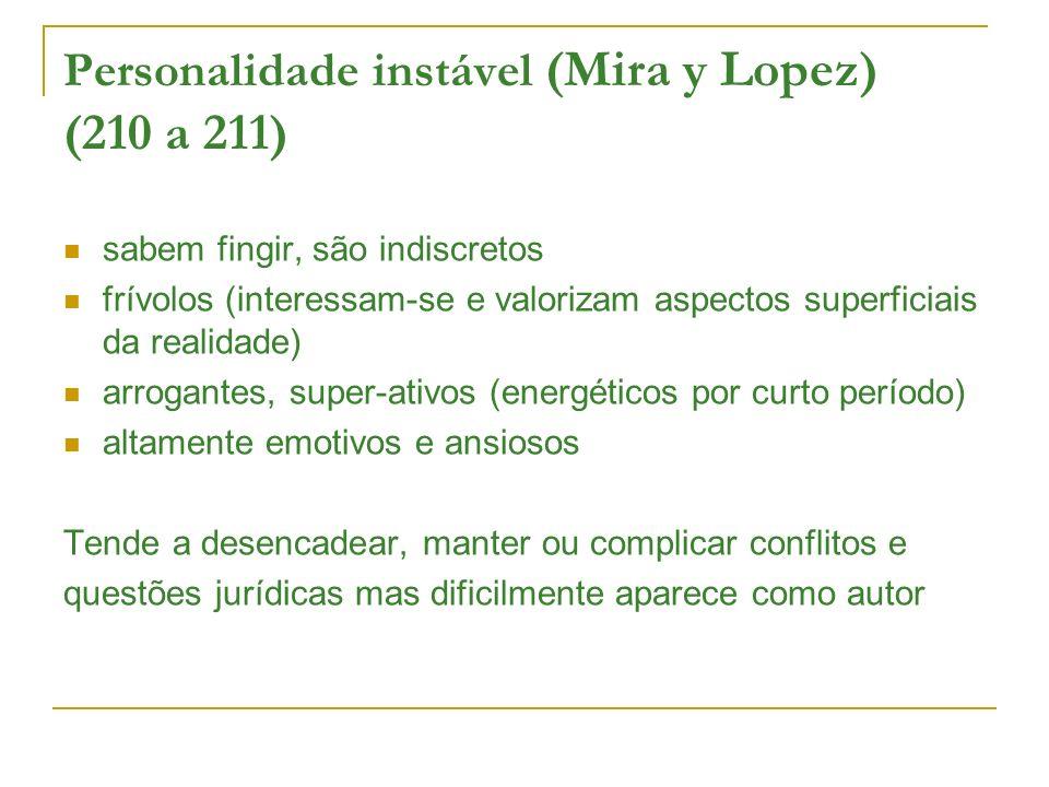 Personalidade instável (Mira y Lopez) (210 a 211)